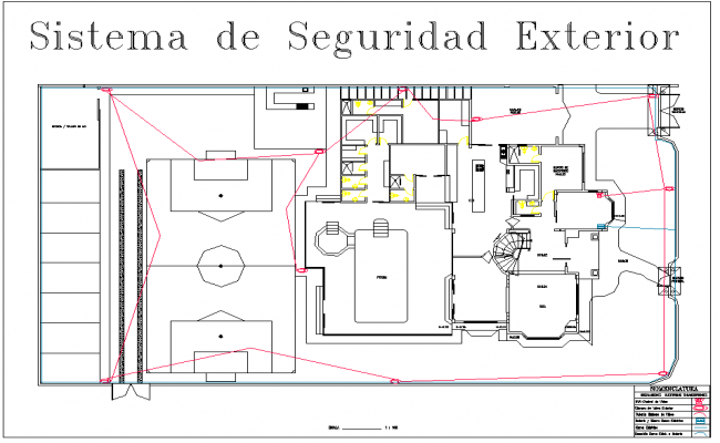 External security system plan layout file