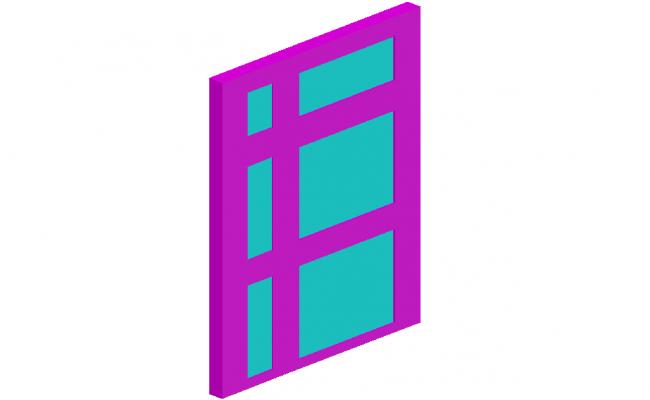External view of door design in 3D