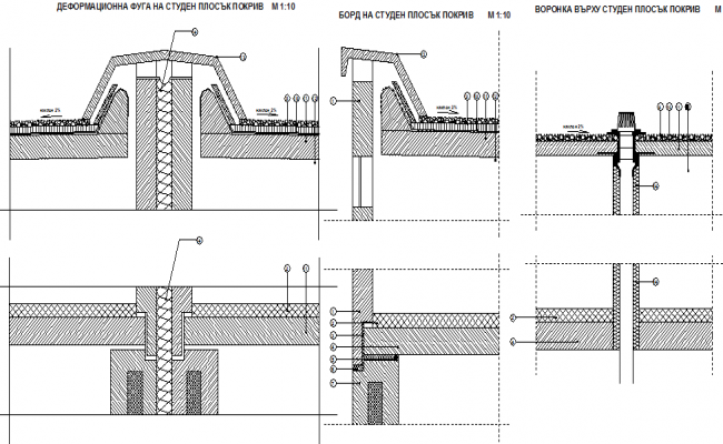 Extreme indoor ceiling construction of house dwg file