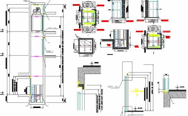 Extreme lift elevator architecture project dwg file for Elevator plan drawing