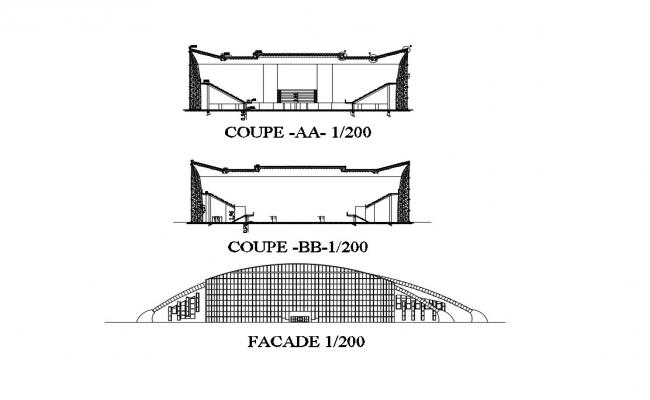 Facade Elevation DWG File Free Download
