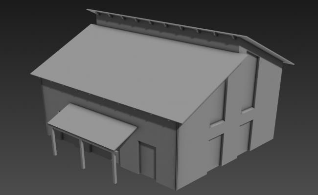Factory Elevation 3D MAX File Free