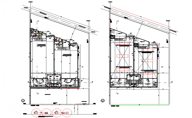 Factory layout planning detail dwg file