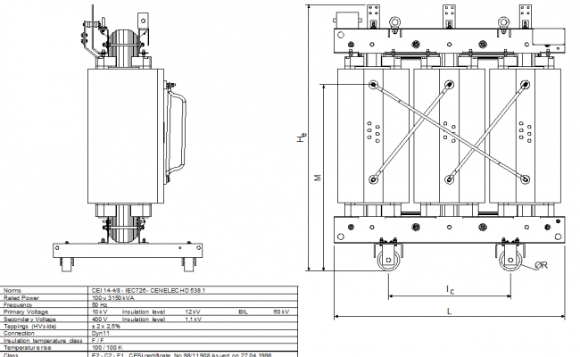 Factory machinery elevation dwg file