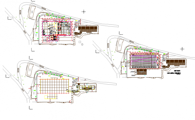 Factory plan detail dwg file