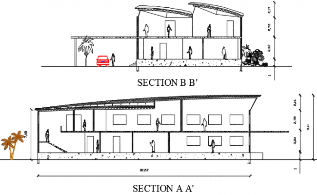 Factory section detail dwg file
