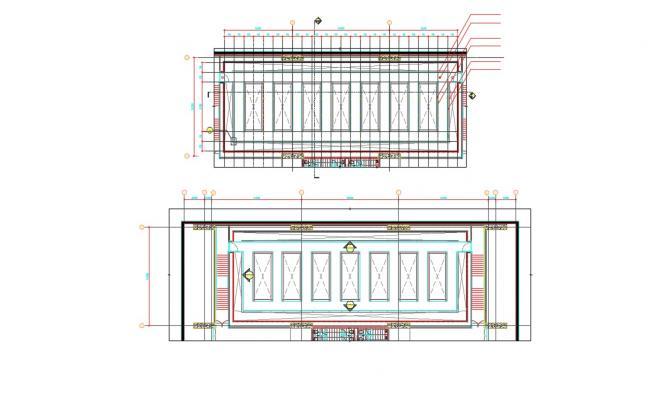 False Ceiling Design For Commercial Shop AutoCAD File Free Download