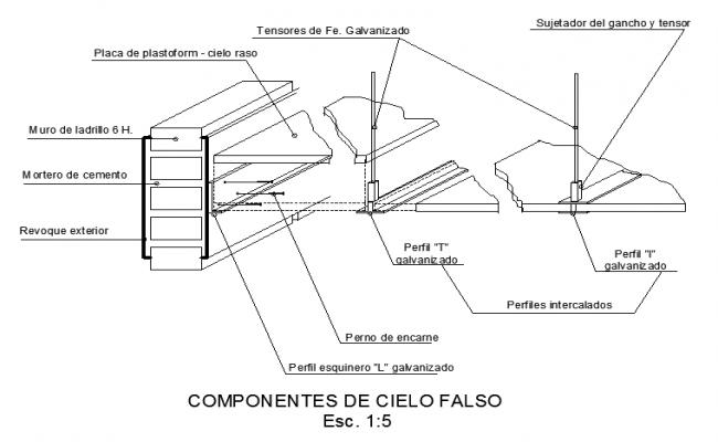 False ceiling Drawing Design