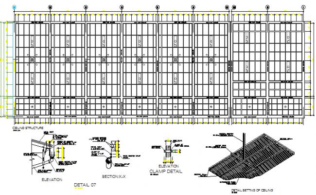False ceiling construction details dwg file
