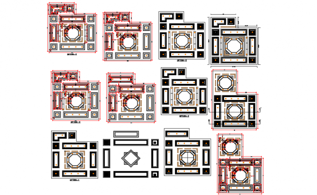 False ceiling design view dwg file