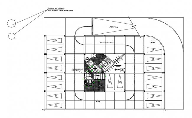 False ceiling design view dwg file