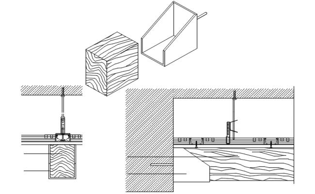False ceiling detail in dwg file