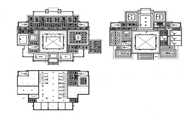 False ceiling details of basement, first and ground floor level dwg file