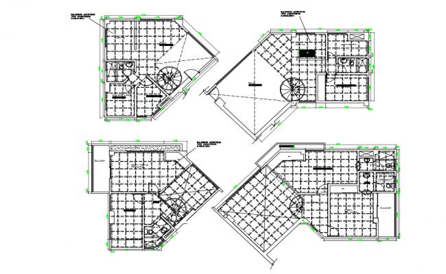 False ceiling floor plan dwg file