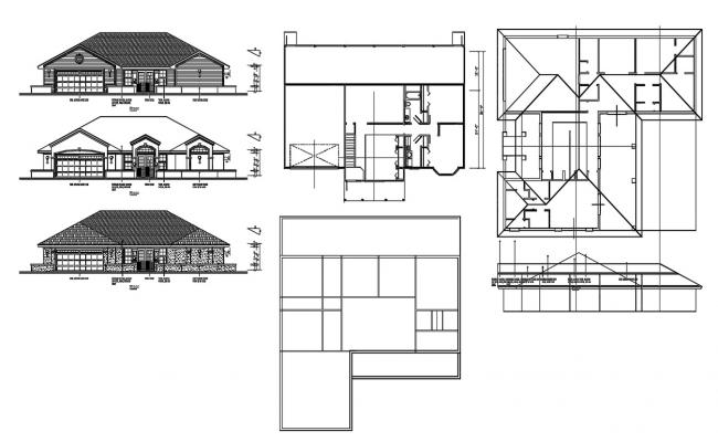 Family House Project CAD Drawing