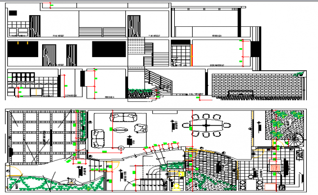 Family Housing Project Design and Elevation dwg file