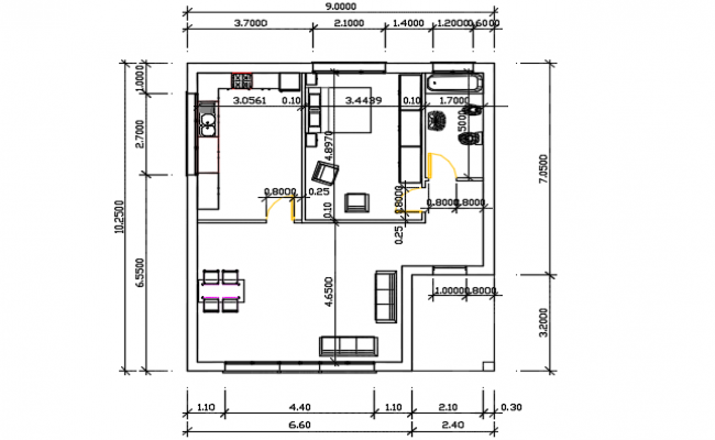 Family house detail dwg file