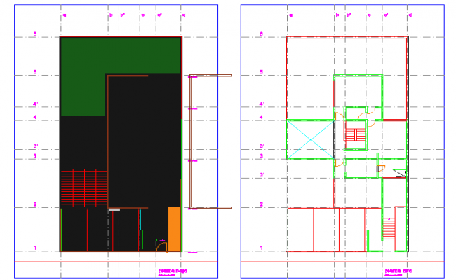 Family house with views  detail dwg file