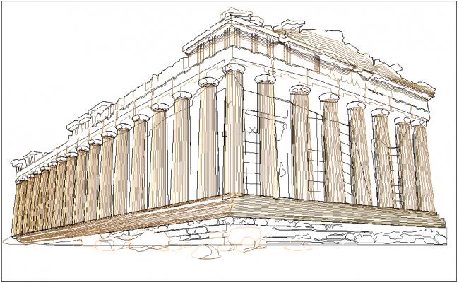 Famous architect design of Acropolis