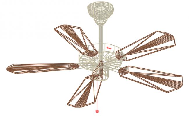Fan 3 D elevation detail dwg file