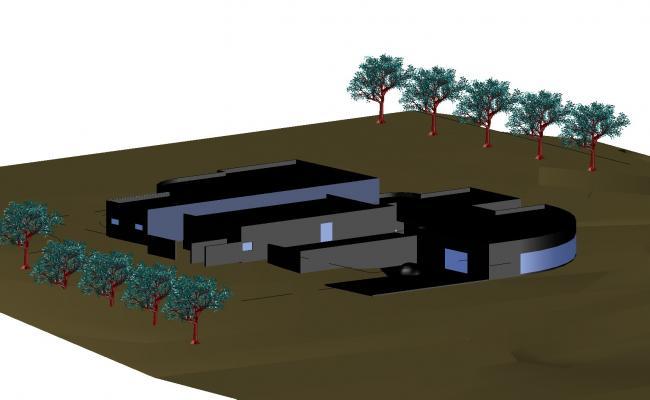 Farm house 3 d layout file