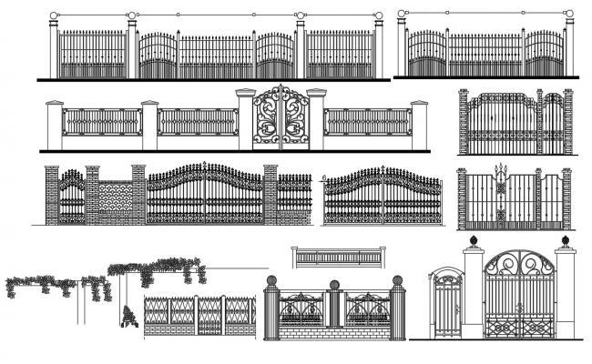 Fence Design CAD File