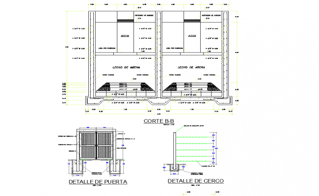 Fence and door detail autocad file