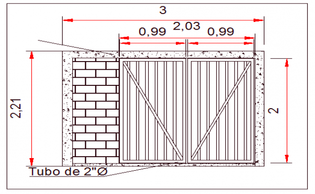 Fence architecture details dwg file
