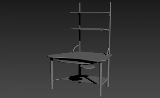 Fiber Computer Table 3d Furniture Block Max file