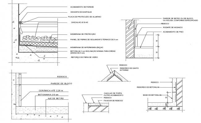 Fiber Panel Of Concrete Wall Section Plan