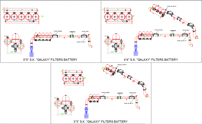 Filter battery cad drawing detail