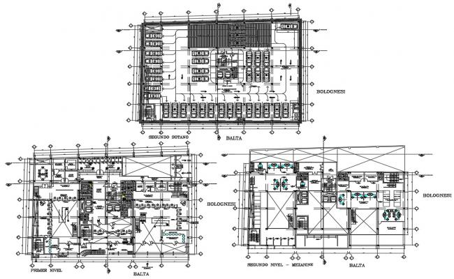 Finance Building Project DWG File