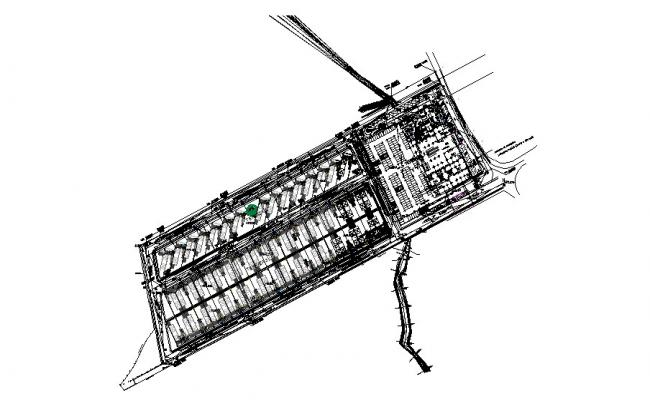 Financial industrial center plant cad drawing details dwg file