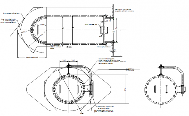 Fire protection oil tank system specifications details dwg file