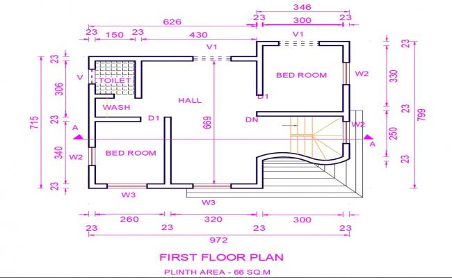 First Floor House Plan Dwg