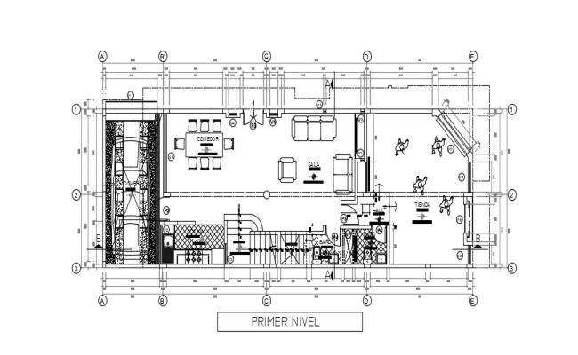 First Floor House Plan In AutoCAD File