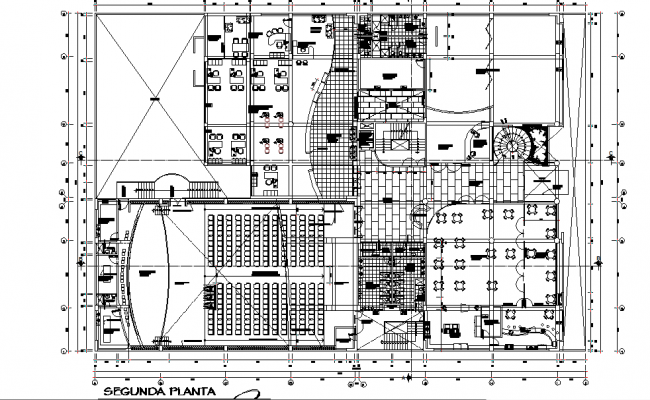 First floor Commercial working plan detail dwg file