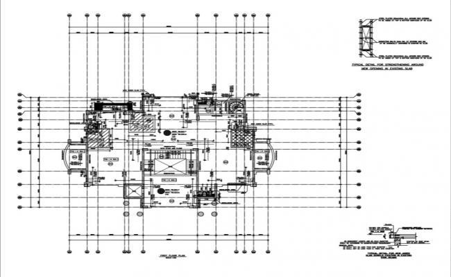 First floor demolition and strengthening plan of villa.