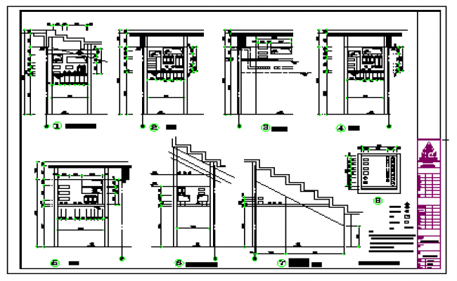 First floor pipe network diagram design drawing