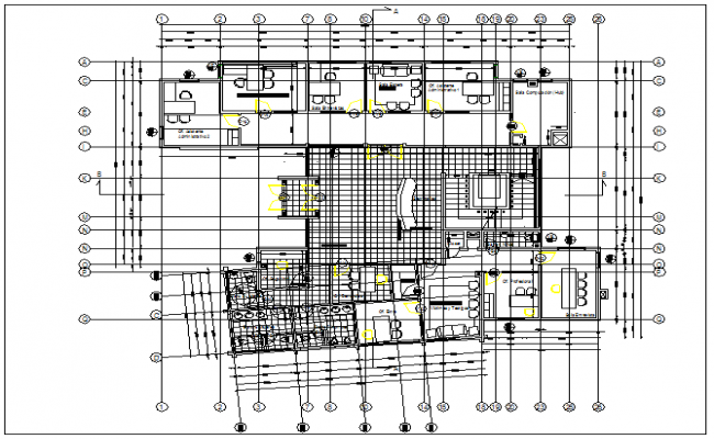 First floor plan of office building dwg file