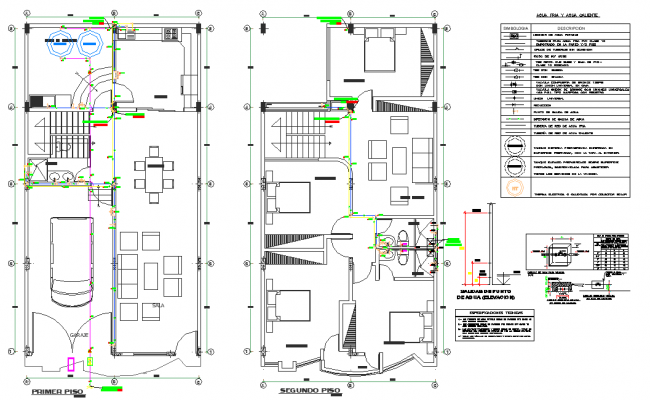 First floor to second floor house autocad file