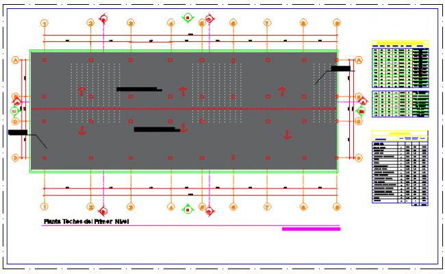 First level Ceiling layout design drawing of Health center design