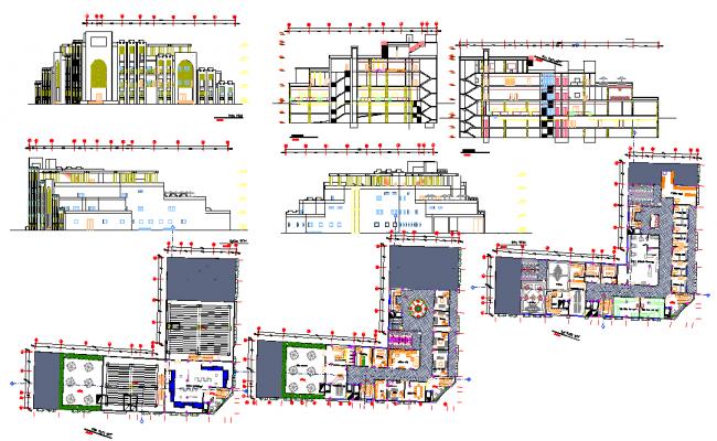 Fish Market Architecture Design in DWG file