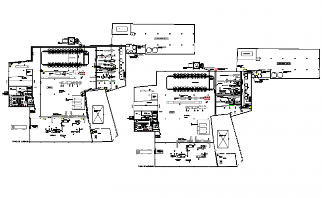Fish canning industry plan detail dwg file