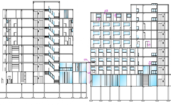 Five Star Hotel Architecture Design and Elevation dwg file