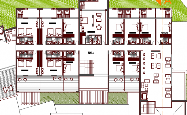 Five Star Hotel Design and Structure Details dwg file