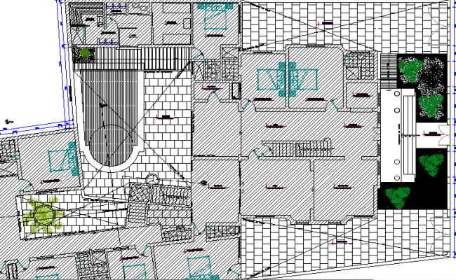 Five Star Hotel Project Elevation Plan dwg file