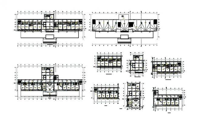 Five star hotel floors distribution plan cad drawing details dwg file