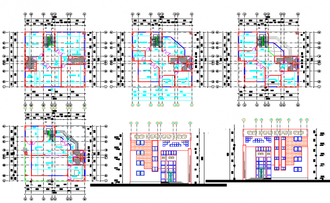 Five star hotel plans architectural autocad drawings