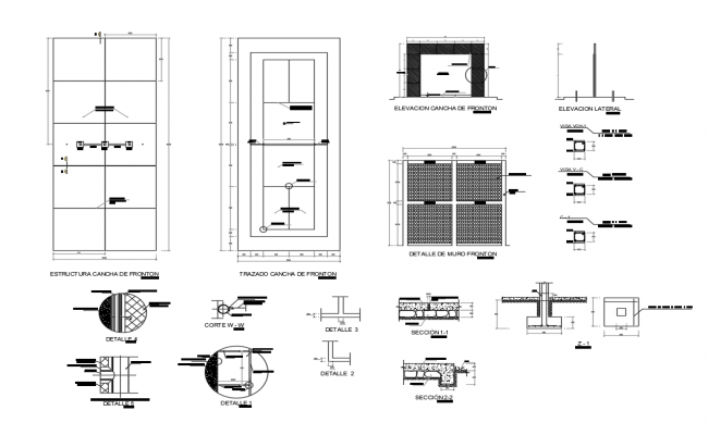 Flagstone front-on cad construction details dwg file